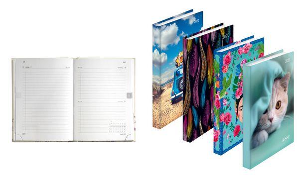 herlitz Buchkalender Minitimer Rainbow 2019, A6, sortiert