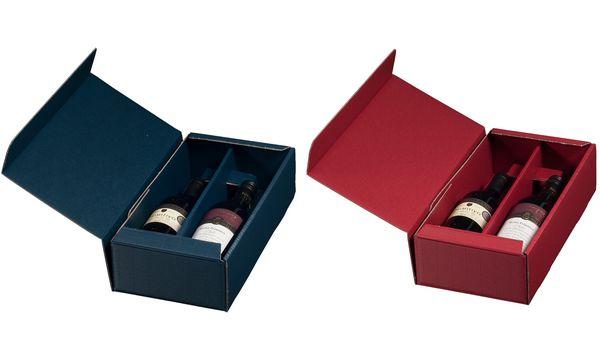 smartboxpro Wein-Präsentkarton, für 2 Flaschen, braun