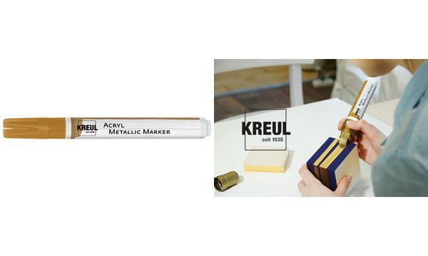 KREUL Acryl Metallic Marker Medium, Rundspitze, gold