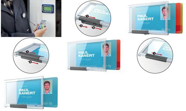 DURABLE Ausweishalter PUSHBOX MONO, transparent