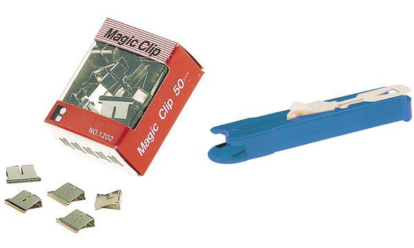 Wonday Foldback-Klammern, für Clip-Spender, Klemmweite: ...
