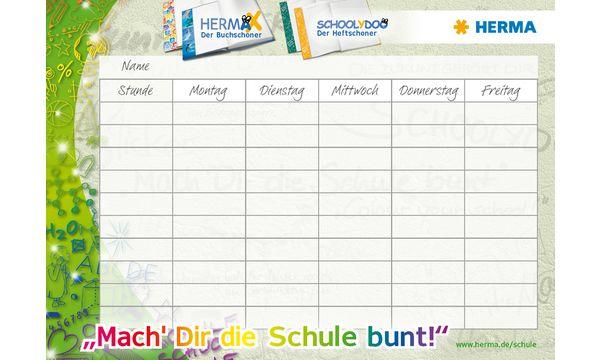 #25xHERMA Stundenplan Mach dir die Schule bunt, DIN A4