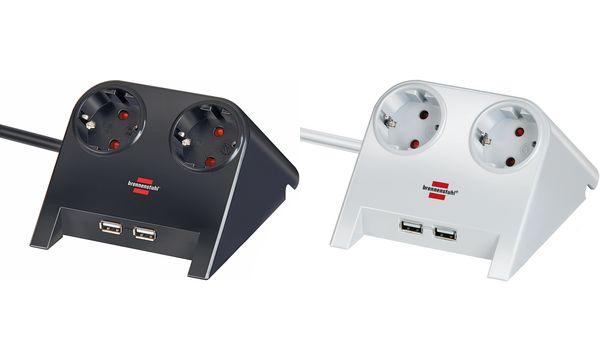 brennenstuhl Tischsteckdose Desktop-Power, 2-fach, 2 x...