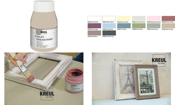 KREUL Kreidefarbe Chalky, Volcanic Grey, 500 ml