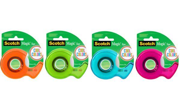 3M Scotch Handabroller Magic, bestückt, farbig sortiert