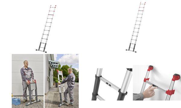 Hailo Alu-Teleskopleiter ProfiLine T350, 11 Sprossen