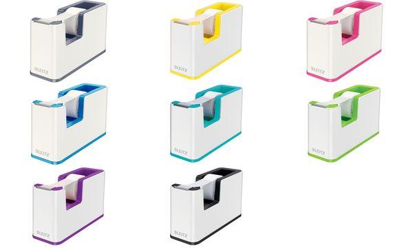 LEITZ Tischabroller WOW Duo Colour, bestückt, weiß