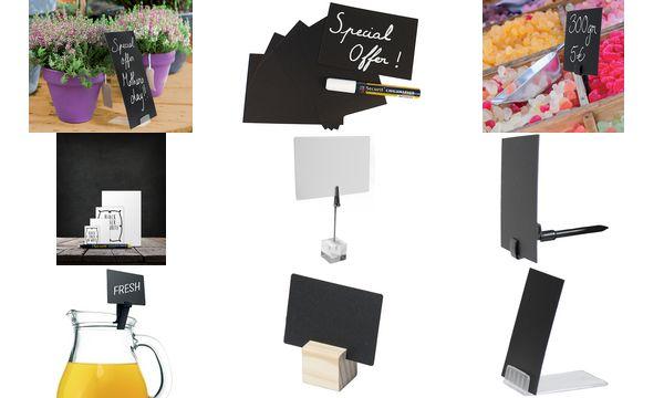 Securit Halterung SPIKE für Kreidetafelschilder, Kunststoff