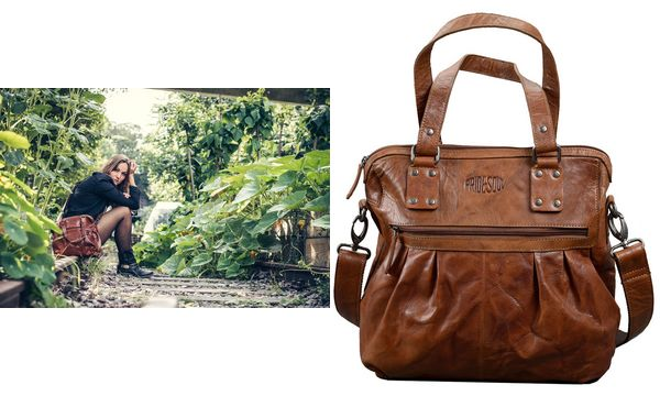 PRIDE&SOUL Damentasche HOLLY, aus Leder, braun