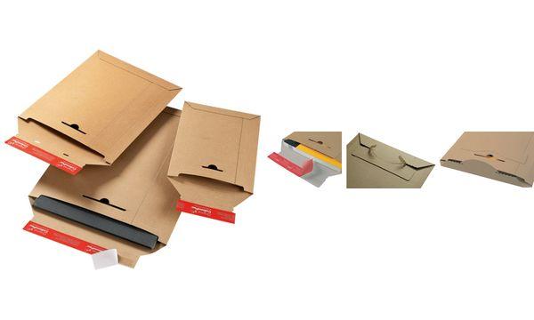 #20xColomPac Versandtasche, aus brauner Vollpappe, DIN A5