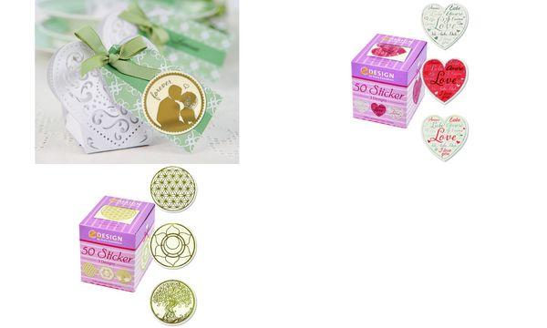 AVERY Zweckform ZDesign Sticker auf Rolle Lebensblume