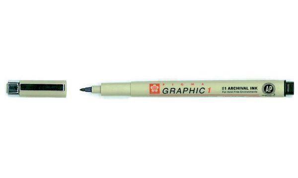 SAKURA Grafikstift PIGMA GRAPHIC 1, schwarz