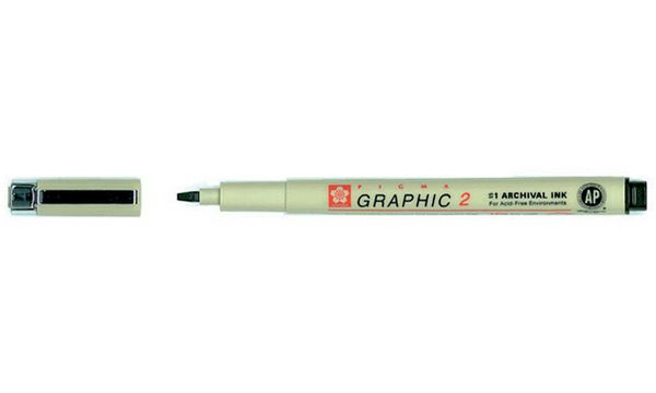 SAKURA Grafikstift PIGMA GRAPHIC 2, schwarz
