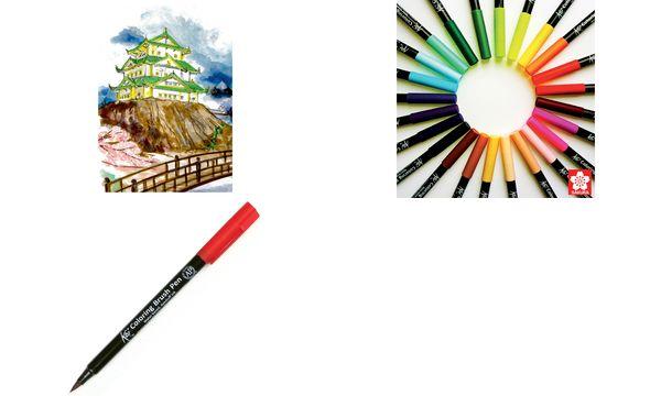 SAKURA Pinselstift Koi Coloring Brush, blaugrün hell