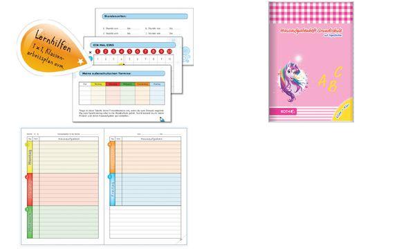 ROTH Grundschul-Hausaufgabenheft Klipp+Klar Einhornportrait