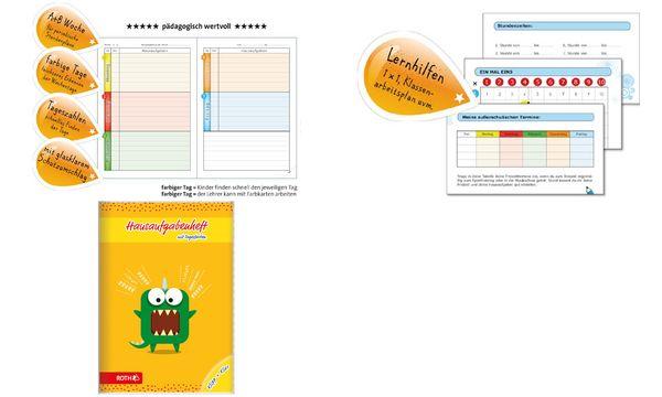 ROTH Grundschul-Hausaufgabenheft Klipp+Klar Einhorn