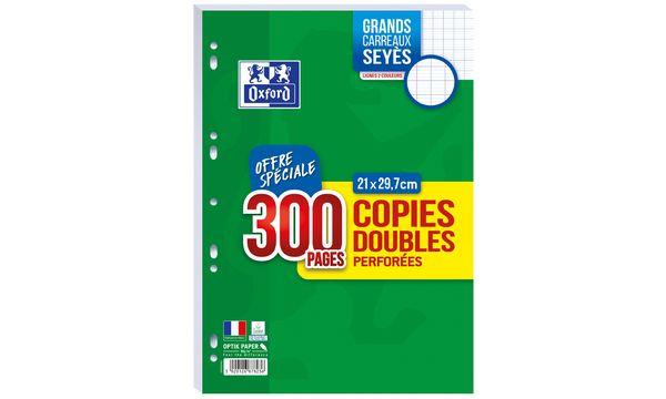 Oxford Copies doubles perforées, A4, seyès, Offre Spéciale