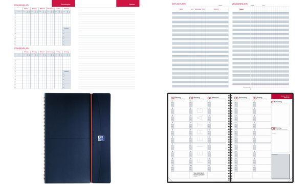 Oxford Lehrerkalender 2020/2021, DIN A4, PP-Deckel, schwarz