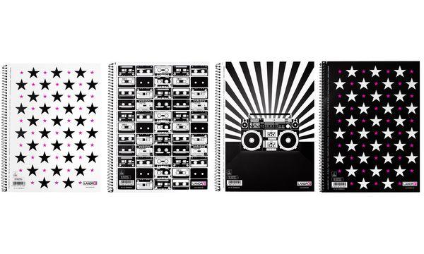 LANDRÉ Collegeblock MUSIC & STARS, DIN A4, liniert, 80 B...