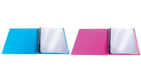 ELBA Sichtbuch Art POP, DIN A4, PP, 30 Hüllen, blau