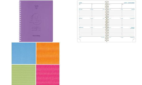 #5xEXACOMPTA Buchkalender SAD 19W, 2019/2020, 2 Seiten/W...