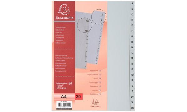 EXACOMPTA Kunststoff-Register, A-Z, DIN A4, 20-teilig