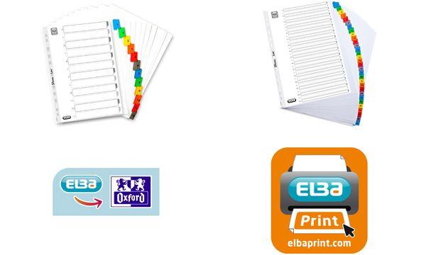 ELBA Register Mylar A4 mit Überbreite, 1-31, weiß