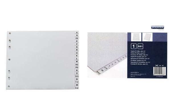 proOFFICE Kunststoff-Register, A-Z, A4, überbreit, 20-te...