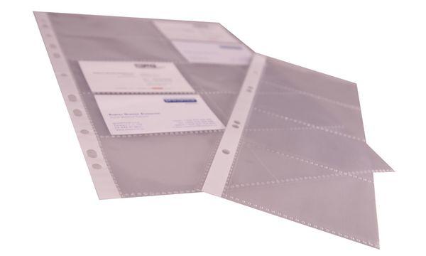 proOFFICE Visitenkarten-Hülle, A5, PP-Folie, transparent