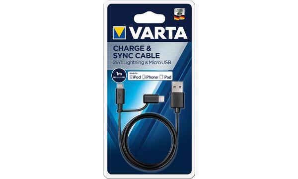 VARTA Ladekabel & Datenkabel 2in1 Micro USB/MFI Lightning