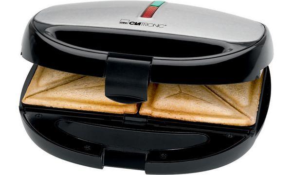 CLATRONIC Sandwich-Waffel-Grill ST/WA 3670, schwarz-inox