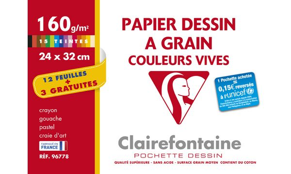 Clairefontaine Künstlerpapier à Grain, Aktionspack