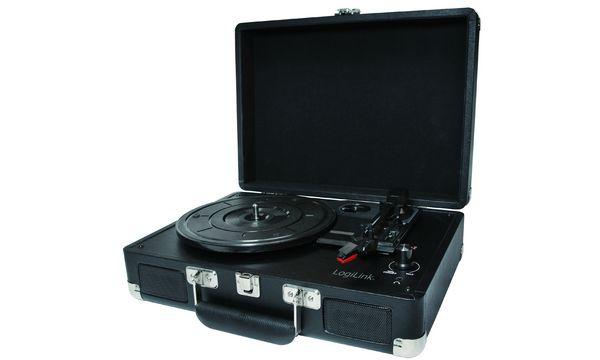 LogiLink USB Schallplattenspieler & Digitalisierer, schwarz