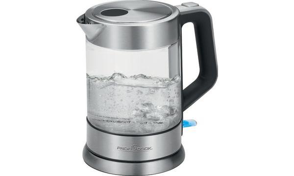 PROFI COOK Wasserkocher PC-WKS 1107 G, Glas/Edelstahl