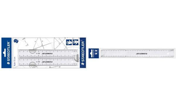 STAEDTLER Flachlineal-Set, 150 mm, aus Kunststoff