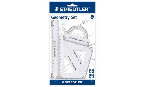 STAEDTLER Geometrie-Set, klein, 4-teilig, transparent