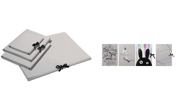 folia Zeichnungsmappe, aus Graupappe, DIN A4, mit Schleife