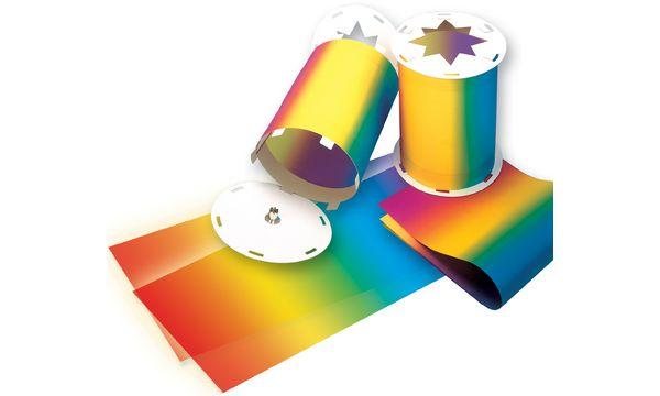 folia Regenbogen-Transparentpapierzuschnitte, 220 x 510 mm