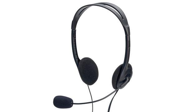 ednet Stereo PC Headset, mit Mikrofon, schwarz
