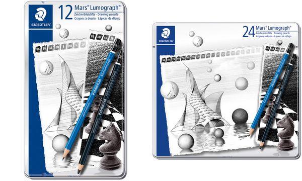 STAEDTLER Bleistift Mars Lumograph Set, 24er Metalletui