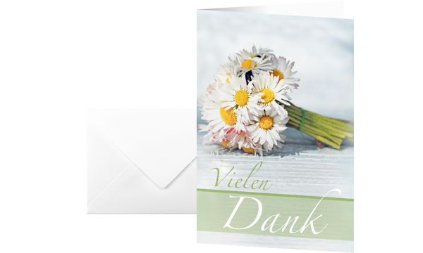 sigel Danksagungskarte Vielen Dank, (B)115 x (H)170 mm