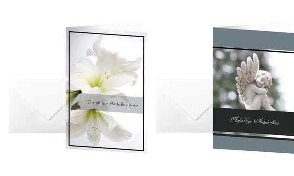 sigel Trauerkarte Weiße Amaryllis, (B)115 x (H)170 mm