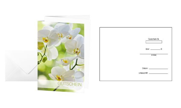 sigel Gutscheinkarte Orchid, (B)115 x (H)170 mm