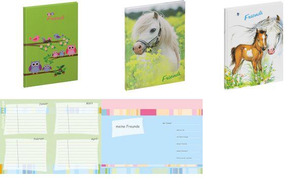 PAGNA Freundebuch Kleines Pony, 120 g/qm, 60 Blatt