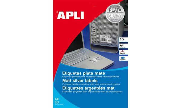 agipa Typenschild-Etiketten, 210 x 297 mm, silber