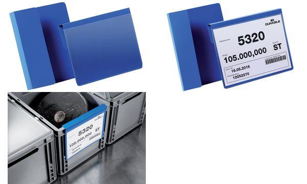 DURABLE Kennzeichnungstasche, mit Falz, DIN A6 quer