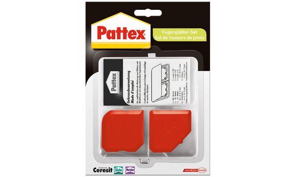 Pattex Fugen-Glätter-Set, 2-teilig, aus Kunststoff, rot