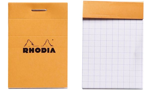 RHODIA Notizblock No. 10, DIN A8, kariert, orange