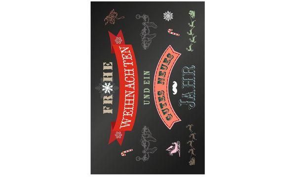 SUSY CARD Weihnachtskarte für Geldschein Tafellook