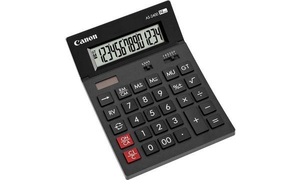 Canon Tischrechner AS-2400, Solar-/ Batteriebetrieb, sch...